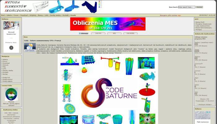 Strona forum dyskusyjnego dla inżynierów- obliczenia MES, CAD