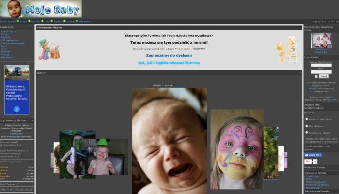 Strona amatorskich zdjęć dzieci